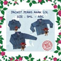 DRS BEST SELLER Jaket Anak LOL Surprise Soft Jeans