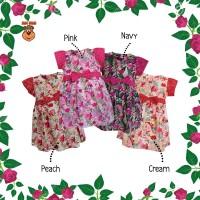 DRS MacBee Junior Baju Anak Dress Kazumi Flowers