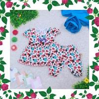 DRS Setelan Baby Berry 0-12 Bulan Baju Baby Perempuan Celana Pop New B