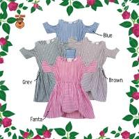 DRS MacBee Kids Baju Anak Dress Navya Stripy