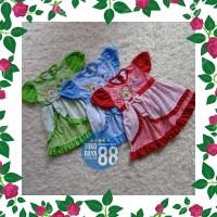 DRS SDR-RF06 Setelan Dress Bayi RED FOREST 6-24 Bulan Baju Rok Anak Pe