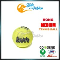 Mainan Bola Tennis Anjing Bunyi KONG SQUEAKAIR Tennis Ball Medium (1pc
