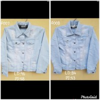#Jaket Levis Jeans Cewe/Wanita Tebal Dan Halus(XXL & XL)