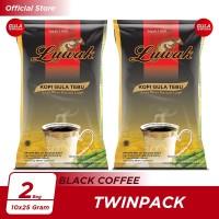 Kopi Luwak Plus Gula Tebu Black Coffee Bag 10x25gr Twin Pack