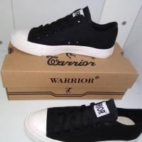 SEPATU WARRIOR / SEPATU WARIOR SPARTA LC BLACK BLACK WHITE