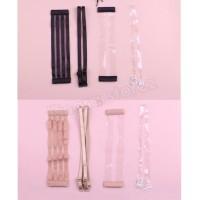 tali belakang bra seamless strapless bh transparan isi 4pcs