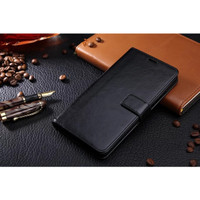 Casing oppo a7 2018 / oppo a5s/A71 leather kulit dompet wallet case - Hitam
