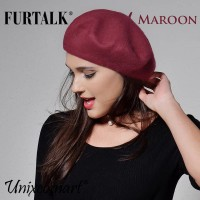 Furtalk French Baret Hat Topi Beret Prancis Fashion Wanita