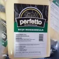 mozzarella PERFETTO 250gram / keju mozarella 250 gram vacuum slice