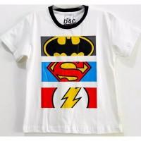 Kaos Anak Laki laki 1 2 3 4 5 6 Tahun Super Hero Putih
