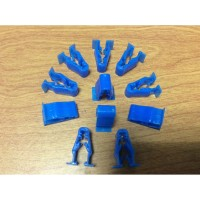 Kancing klip body motor klip biru Kancing body motor