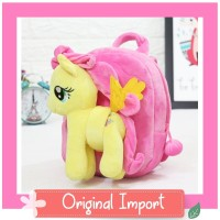 Tas Sekolah Anak Boneka Karakter Little Pony Fluttershy Lepas 25cm