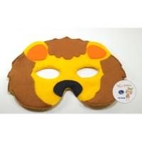 Topeng hewan singa lion Flanel kostum Topeng singa pesta ulang tahun