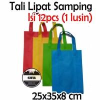 isi 12pcs (25x35x8) Tas Spunbond / Goodie bag / Tas Souvenir / Kantong