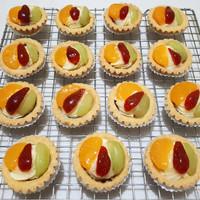 pie buah fruit pie ekonomis custard strawberry anggur kiwi susu