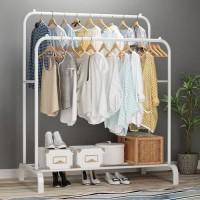 Rak Baju Gantung Rak Standing Double Row Windproof Clothes Hanger