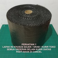 [KHUSUS GOJEK / GRAB] Bubble Wrap 50m x 40cm BLACK (HITAM)
