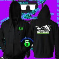 Jaket Sweater Kawasaki Ninja Racing Hoodie pria wanita terbaru