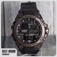 Jam tangan pria * shock GST-8600 FREE BATRAI CADANGAN DUAL TIME