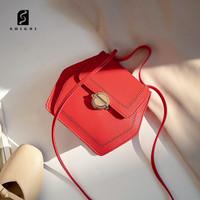 Soigni Tas Samping Fashion Wanita Ringan bahan kulit PU Tas Selempang