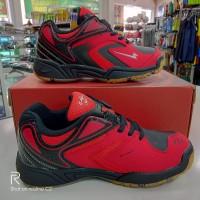 sepatu sapatu badminton bulutangkis anak eagle artax jr merah original