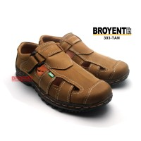 Sepatu Sandal Casual Pria Kulit Asli 303