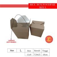 KEMASAN RICE BOX/BOWL/FOODPAIL ISI 100PCS