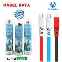 Kabel Charger VIVAN CTM100 2.4A 1m Data Cable Android Micro