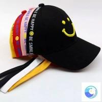 Topi baseball anak be smile ( black)