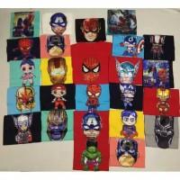 kaos super hero led anak
