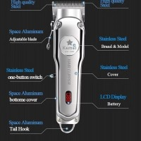 kemei km 1996 LED electric hair clipper professional Cukur Charge Cas
