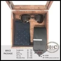 Groomsmen box bestman cufflinks dasi wedding bowtie BRICE PACKAGE BOX