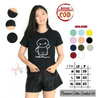 BAJU KAOS HELLO BAYMAX FOR CEWEK TUMBLR TEE CEWE T-SHIRT COTTON