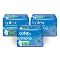Kotex Healthy Protection Maxi Wing 8s 3 Pack