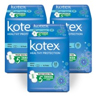 Kotex Healthy Protection Maxi Wing 16s 3 Pack