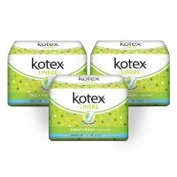 Kotex Liners Unscented 20s 3 Pack