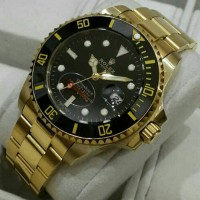 JAM TANGAN PRIA/COWOK ROLEX SUBMARINER GOLD BLACK. SUPER GRADE AAA+