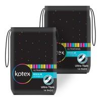Kotex Ultrathins Non Wings 14s 2 Pack