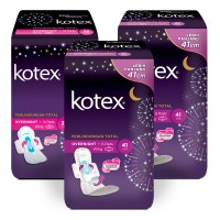 Kotex Overnight PAG 41 cm 6s 3 Pack