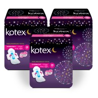 Kotex Overnight PAG 28 cm 5s 3 Pack