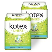 Kotex Liners Unscented 40s 2 Pack