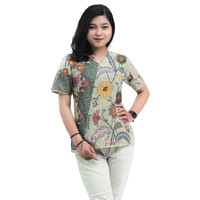 READY S-M-L-XL-XXL-3L-4L-5L -Blouse Batik Atasan Wanita Bunga matahari