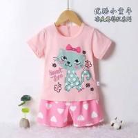 """Setelan Baju Bayi """"Sweet Time"""" / Set Baju Bayi Perempuan Import"""