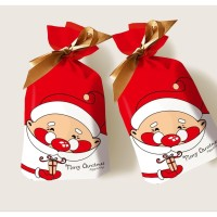 Plastik Kantong Paper Bag Santa Merry Christmas Goodie Bag Packing
