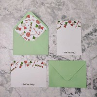 Custom Personalized Stationary Christmas / Kartu Ucapan Natal