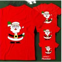 kaos natal santa claus dewasa dan anak
