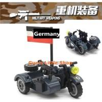 Brick - Accessories Army Motorcycle Bike Military Swat Vest Lego