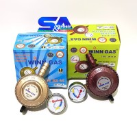 WINN GAS Regulator+METER - Tekanan RENDAH Dengan METERAN