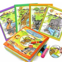 Reusable Drawing Soft Book / Buku Mewarnai Balita / Mainan Edukasi