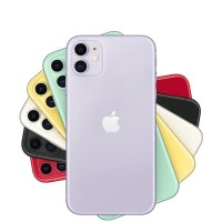 Apple iPhone 11 128GB Nano Esim Black White Red Yellow Green Purple - Black